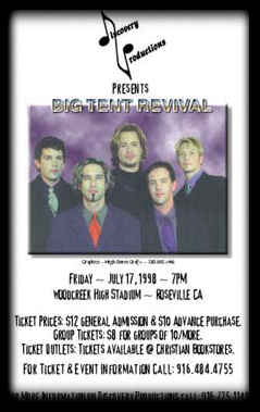 Poster for Big Tent Revival Rock Band
